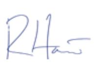 Подпись Ричарда Хоува